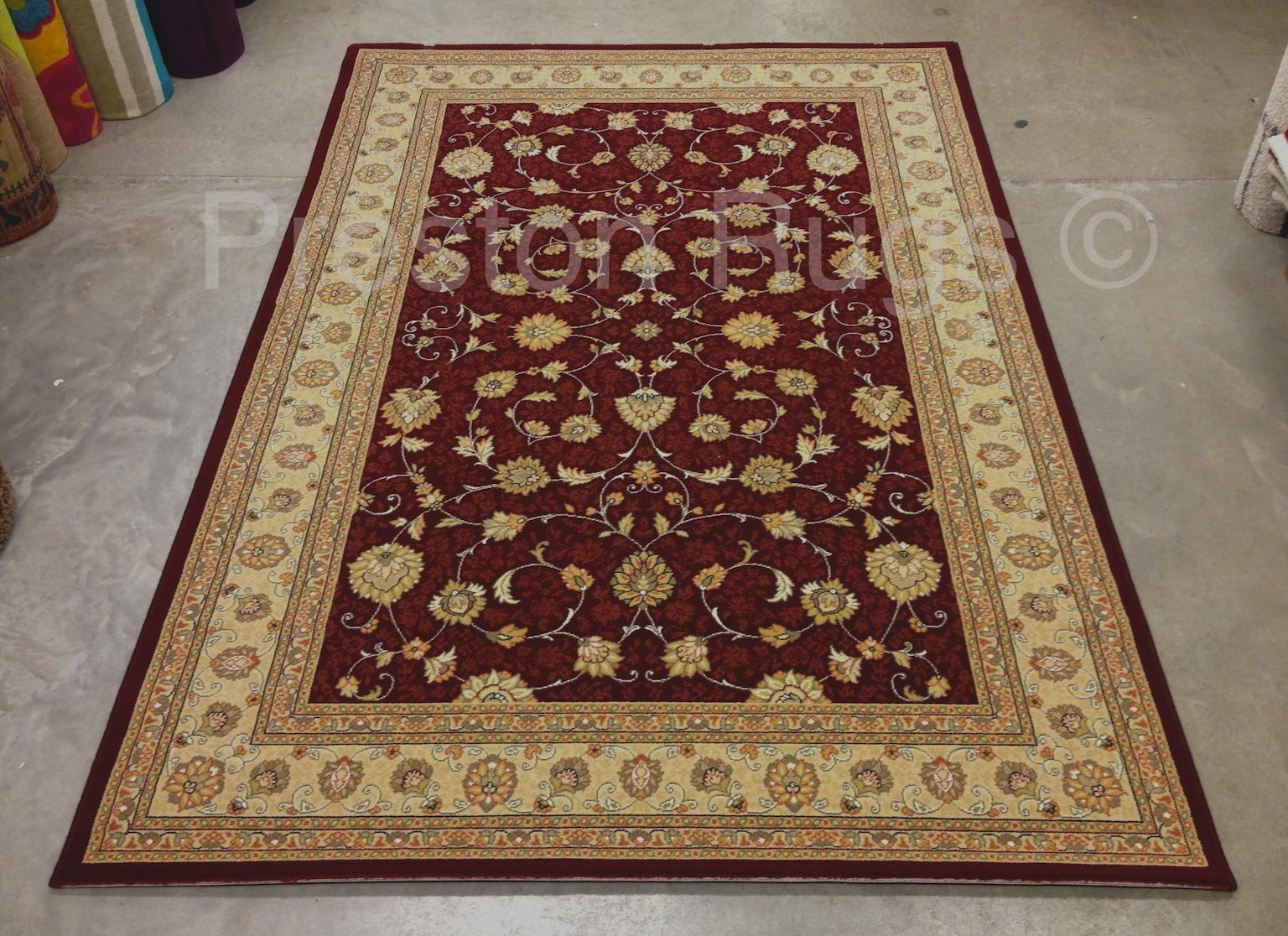 tapis style persan agra rouge cream 280x390cm ebay. Black Bedroom Furniture Sets. Home Design Ideas