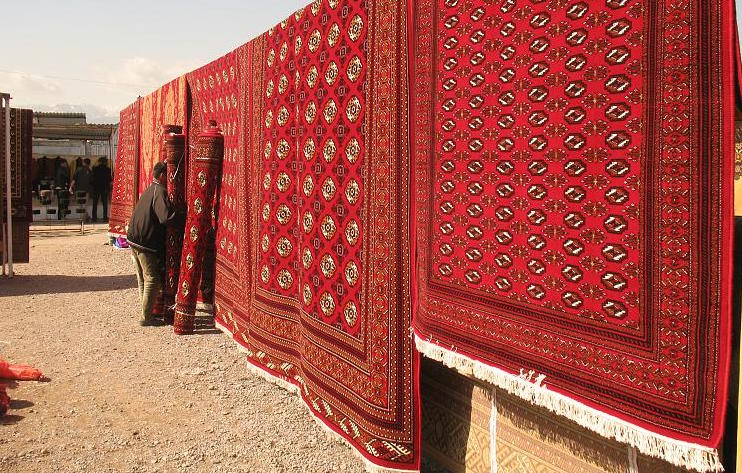 Pakistani Mori Bokhara Hand Knotted Rugs Carpets In Red