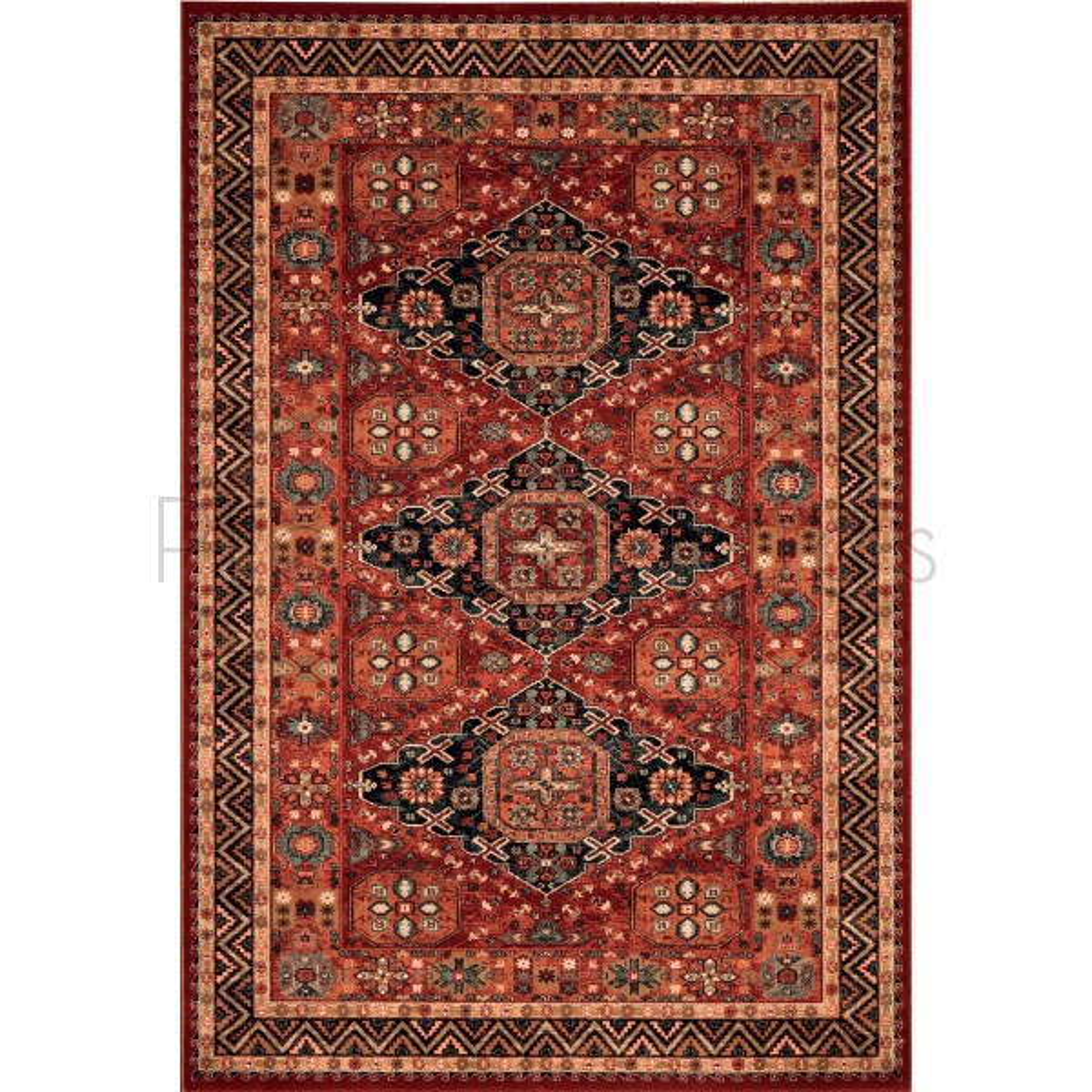 "Kashqai Traditional Persian Design Rug - 4308/300-Runner 67 x 275 cm (2'2"" x 9')"