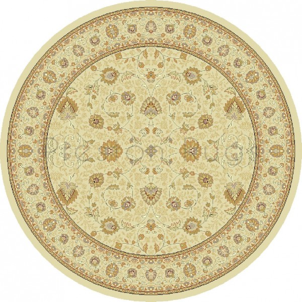 Noble Art Traditional Persian Style Rug - Beige Cream 6529/190-Round Circle 160cm