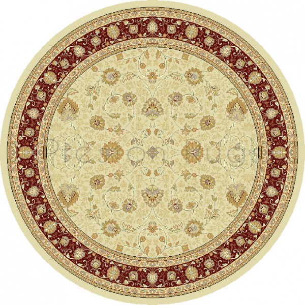 Noble Art Traditional Persian Style Rug - Beige Cream Red 6529/191-Round Circle 160cm