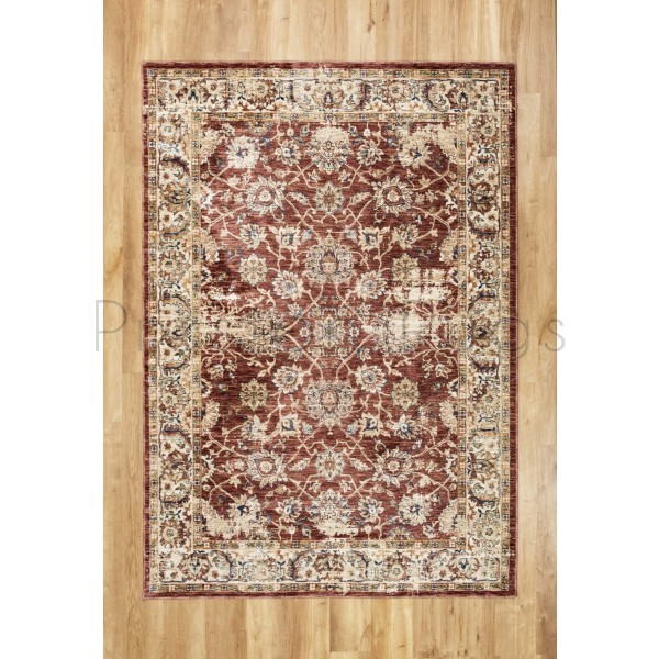 """Alhambra Traditional Rug - 6549a red/red - Size 133 x 195 cm (4'4"""" x 6'5"""")"""