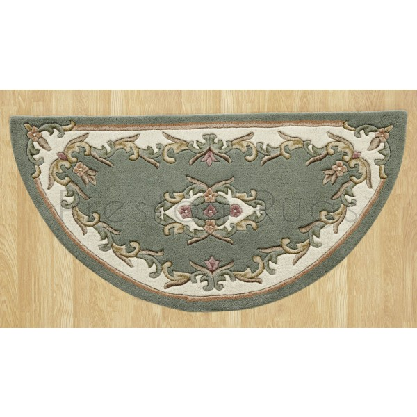 Royal Traditional Wool Rug - Green-Half Moon 67 x 137 cm