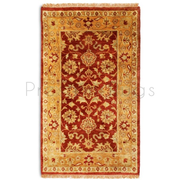 Taj Agra Rust/Gold Handwoven Indian Rug-150 x 240 cm