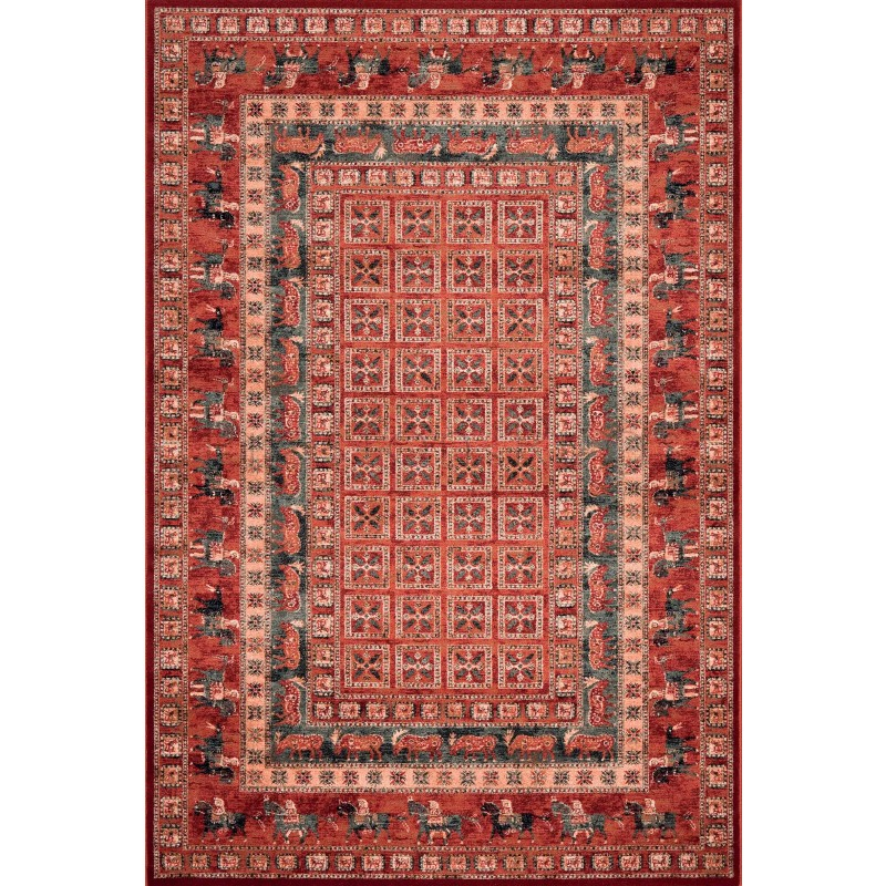 Kashqai Traditional Pazyryk Persian Design Rug 4301 300