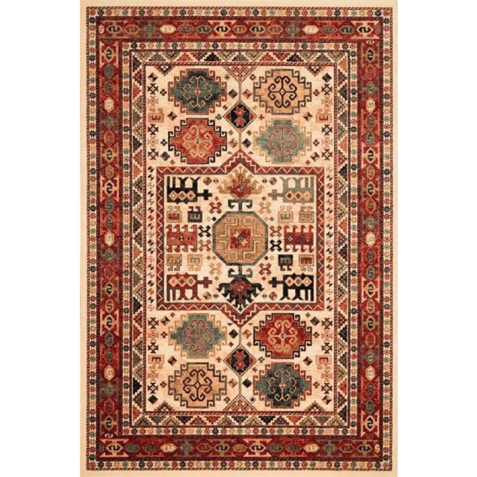 Kashqai Traditional Persian Design Rug 4306 100 240 X