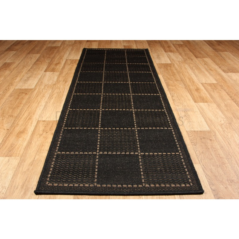 Damask Flatweave Rug: Checked Flat Weave Multi Purpose & Kitchen Mat. Rug