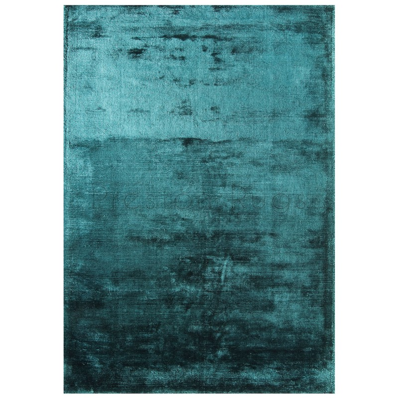 Dolce Plain Viscose Rug In Teal 200 X 300 Cm