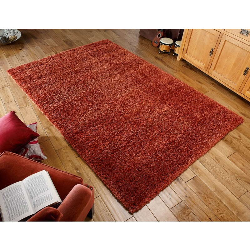 Harmony Shaggy Rug Orange 120 X 170 Cm 4 X 5 7
