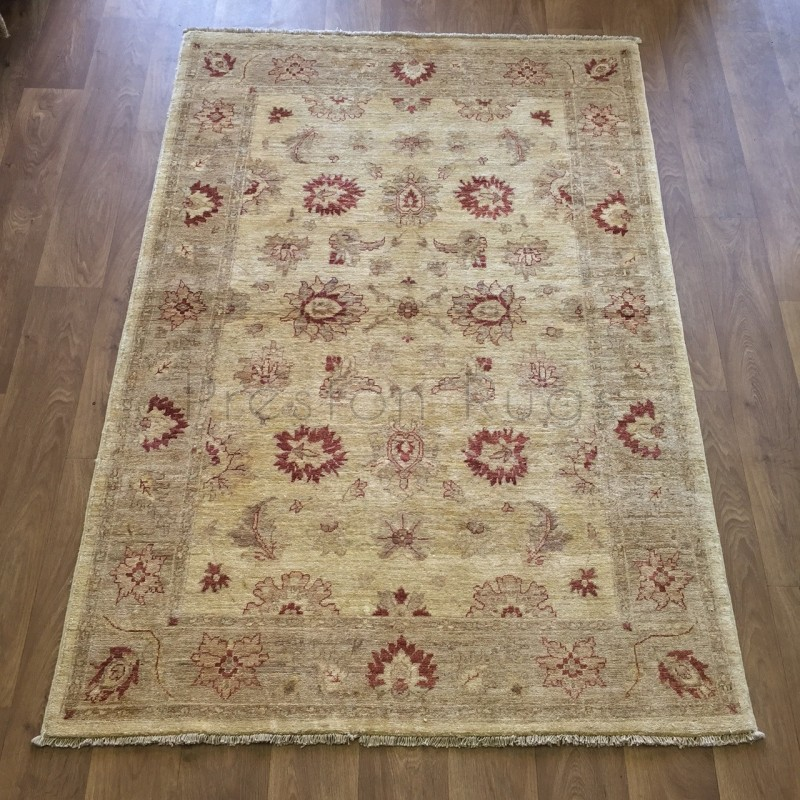 Afghan Ziegler Hand-knotted Traditional Wool Rug