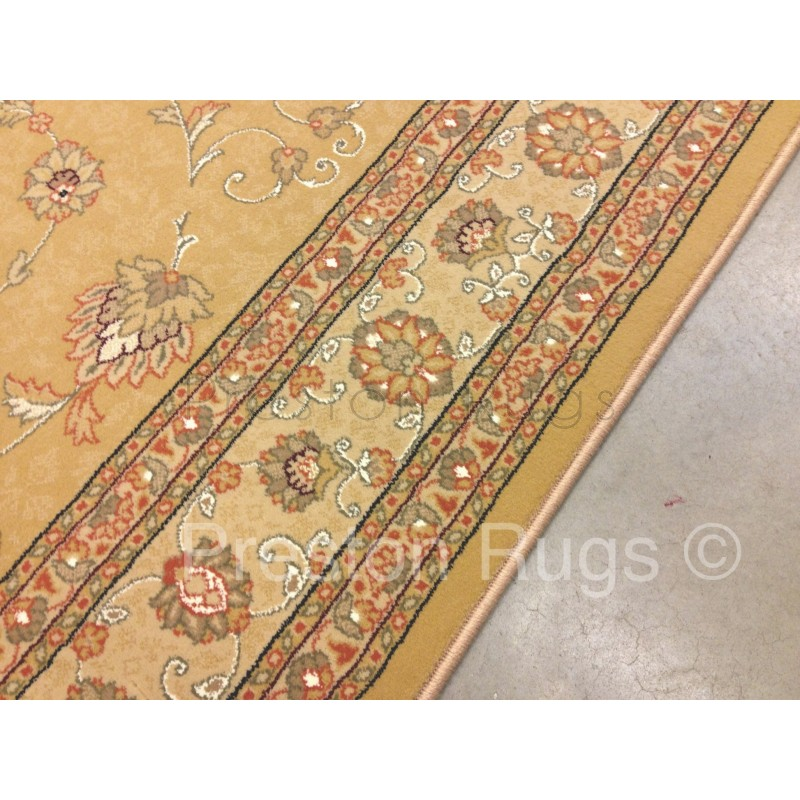 Noble Art Traditional Persian Style Rug Gold Beige Cream