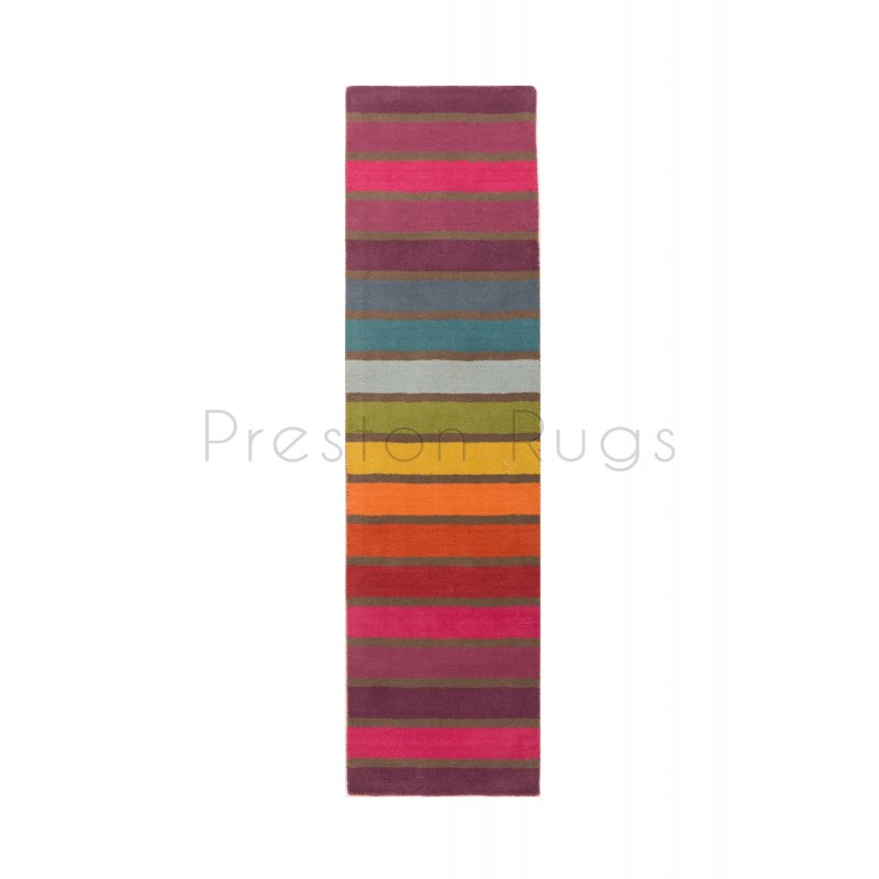Candy Stripe Multi Coloured Rug-Runner