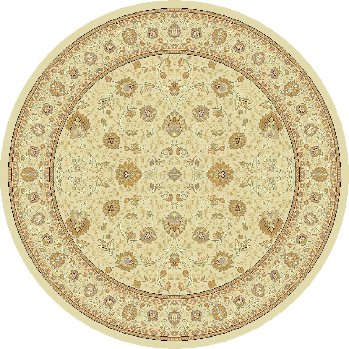 Noble Art Traditional Persian Style Rug Beige Cream 6529