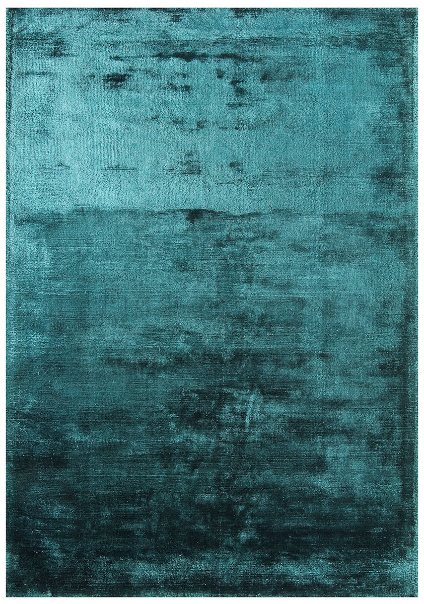 Dolce Plain Viscose Rug In Teal