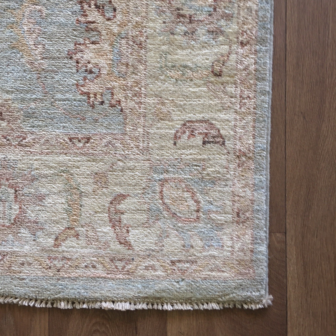 Afghan Ziegler Hand Knotted Traditional Wool Rug Green