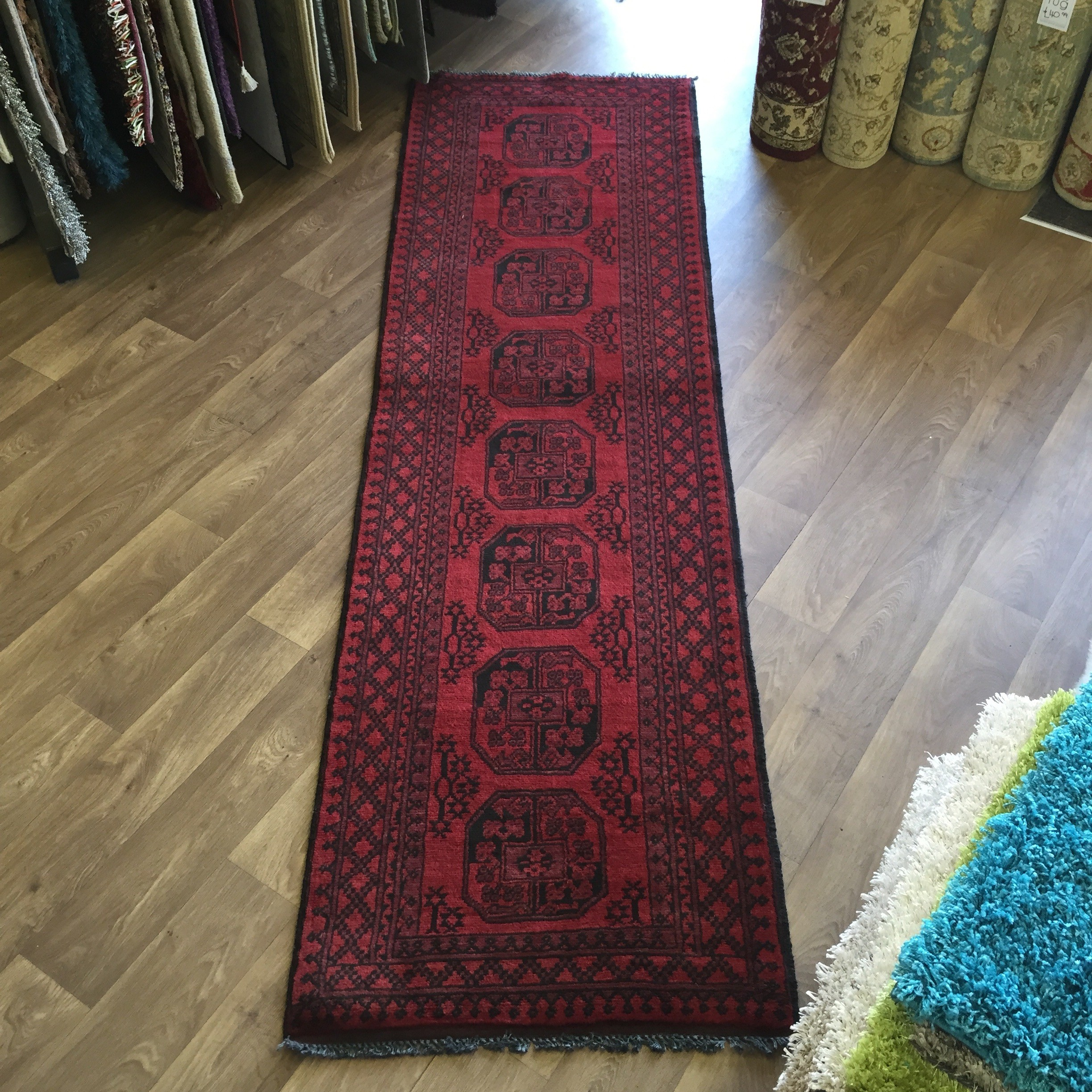 Afghan Aqcha Fil Pah Carpet Hall Runner 80 X 286cm 2 7 X