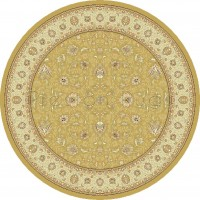 Noble Art Traditional Persian Style Rug - Gold Beige Cream 6529/790-160cm Round Circle