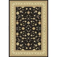 Noble Art Traditional Persian Agra Design Rug - Black Beige 6529/090