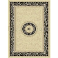 "Noble Art Traditional Persian Style Rug - Beige Cream Black 6572/192-240 x 340 cm (7'10"" x 11'2"")"