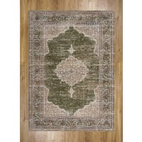 "Alhambra Traditional Rug - 6594b ivory/green - Size 133 x 195 cm (4'4"" x 6'5"")"