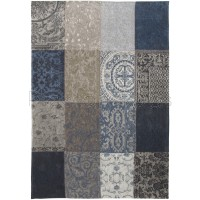 "New Vintage Blue Denim 8108 Rug by Louis de Poortere-Square 230 x 230 cm (7'7"" x 7'7"")"