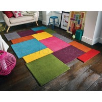 Abstract Collage Rug - Multi