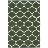 "Albany Rug - Ogee Green - Size 80 x 150 cm (2'8"" x 5')"