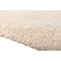 "Amore Luxury Shaggy Rug - Cream-239 x 330 cm (7'10"" x 10'10"")"