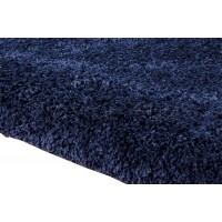 Amore Luxury Shaggy Rug - Ink Blue