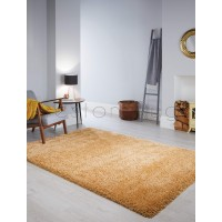 Athena Shaggy Rug - Ochre Yellow