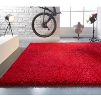 Athena Shaggy Rug - Red