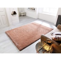 Athena Shaggy Rug - Rose Gold
