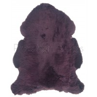 British Sheepskin Rug  - Aubergine