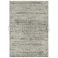 Dolce Plain Viscose Rug in Silver