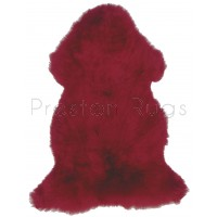 British Sheepskin Rug  - Red