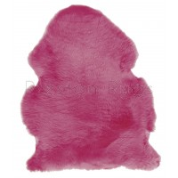 British Sheepskin Rug  - Fuchsia
