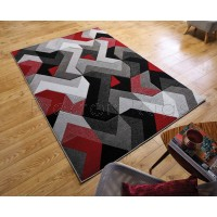 Aurora Rug - Grey Red