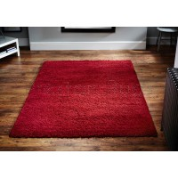 Harmony Shaggy Rug - Red