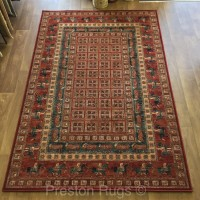 Kashqai Traditional Pazyryk Persian Design Rug - 4301/300