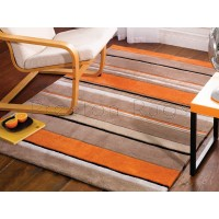 Inspire Broad Stripe Orange Rug-160 x 230 cm