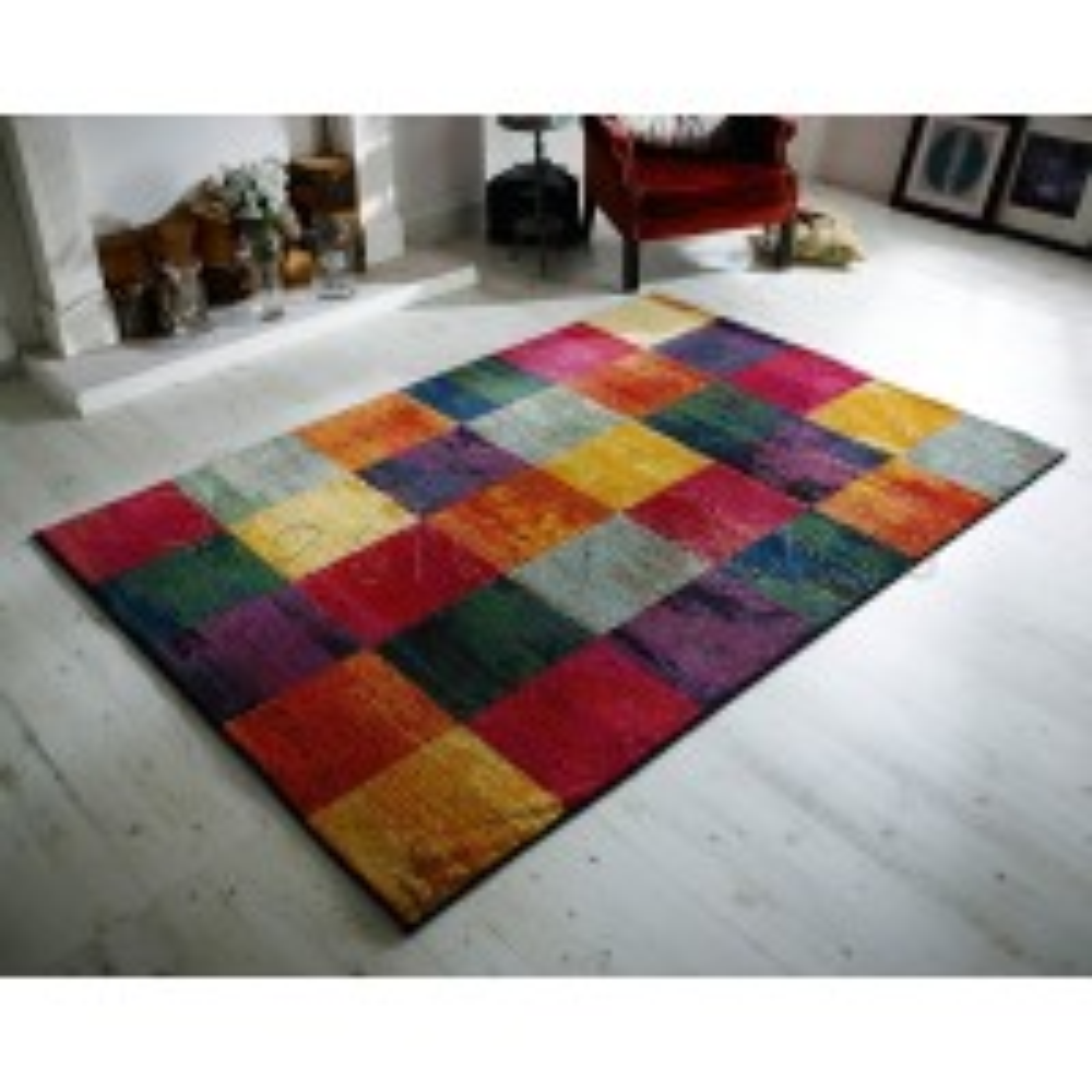 Kaleidoscope Squares Rug - 566 C