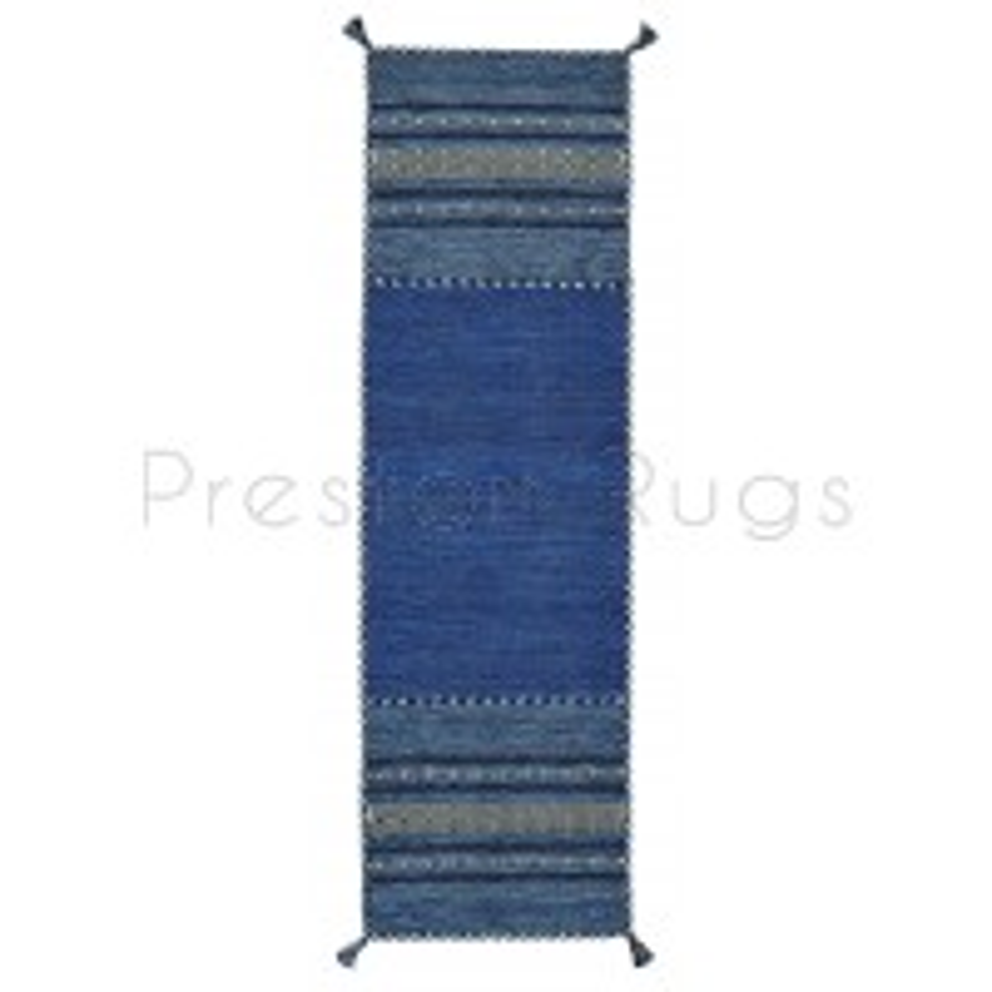 Kelim Flat-weave Rug - Blue-Runner 67 x 220 cm (2'2