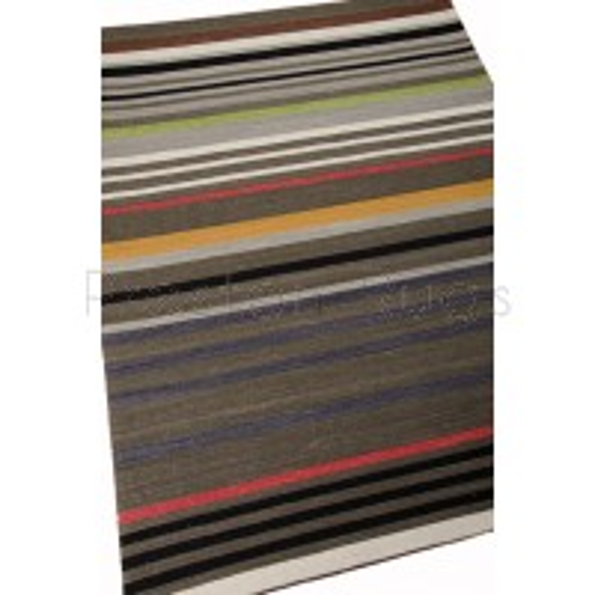 Griot Stripe Rug - Adungu - Poppy Seed-122 x 183 cm (4' x 6')