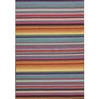 "Griot Stripe Rug - Uhadi - KI807 Chili Pepper-160 x 226 cm (5'3"" x 7'5"")"