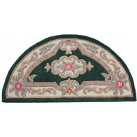 "Aubusson Panel Rug  - Bottle Green-Half Moon 67 x 127 cm (2'2"" x 4'2"")"