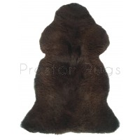 British Sheepskin Rug  - Natural Black