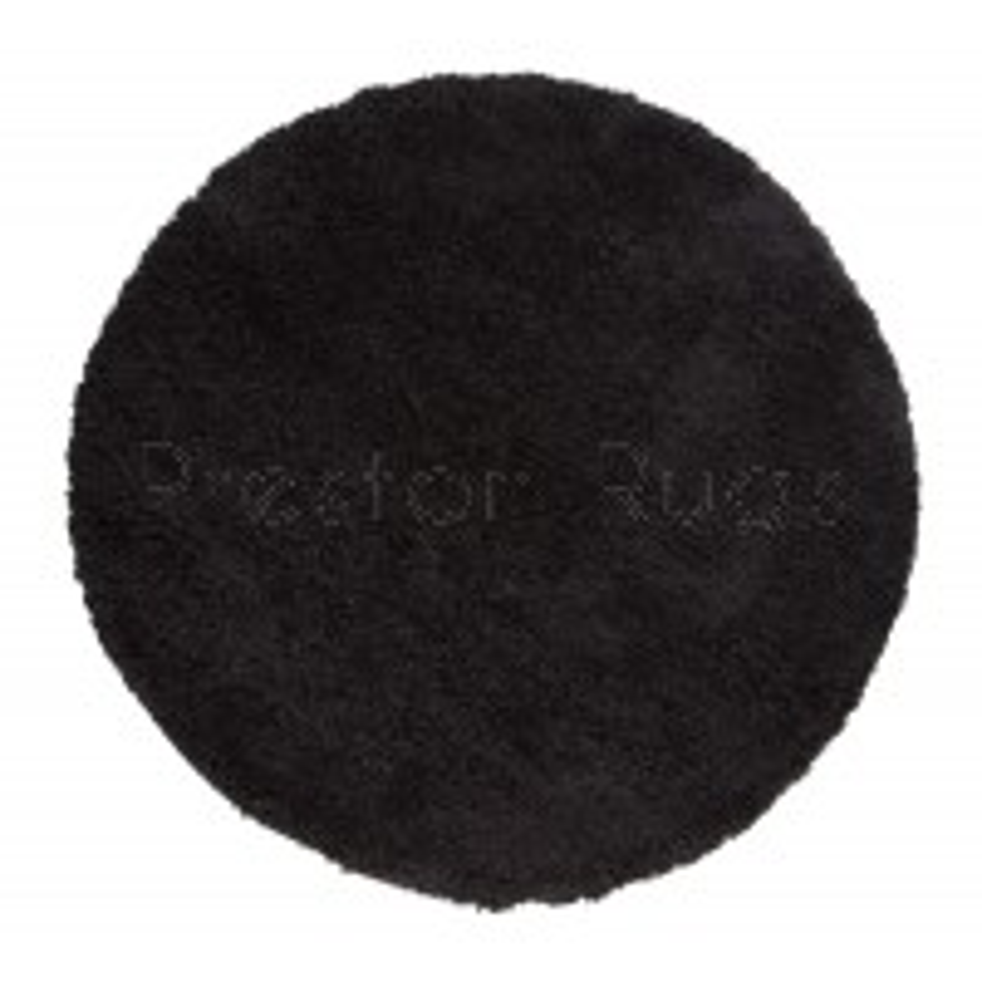 "Nordic Cariboo Shaggy Rug - Black - Size Circle 133 cm (4'4"")"