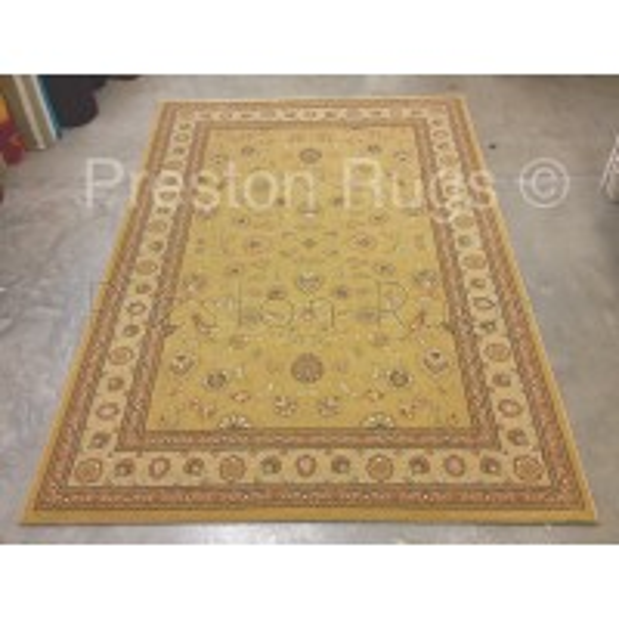 Noble Art Traditional Persian Agra Design Rug - Gold Beige Cream 6529/790