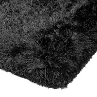 Plush Shaggy Rug - Black