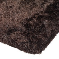 Plush Shaggy Rug - Dark Chocolate